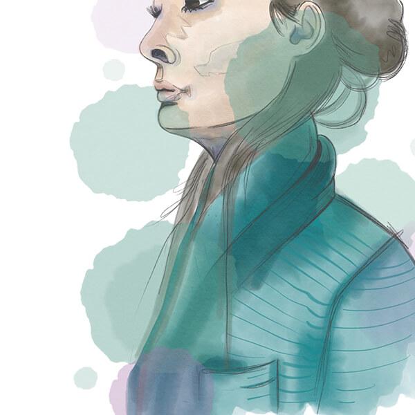 Aquarell Selbstportrait Shery