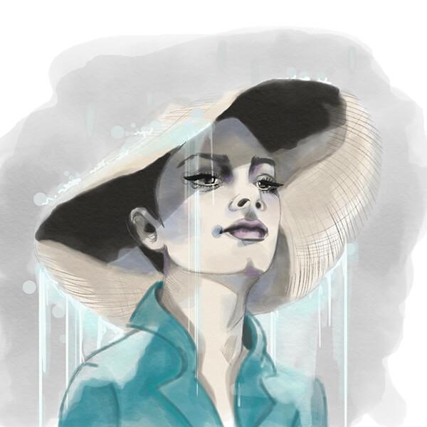 Aquarell Portrait Sophia